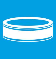 Puck icon white vector