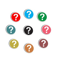 Question markreer vector image