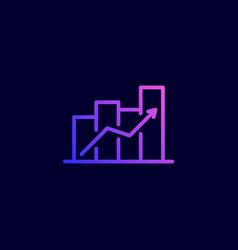 revenue growth icon vector image