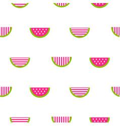 seamless watermelon stylized striped pattern vector image