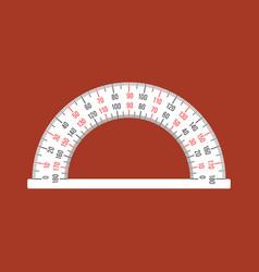 Semi circle ruler vector