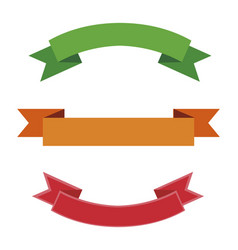set of ribbons frames vector image