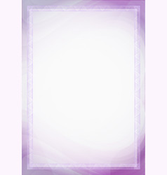 sheet paper with purple violet guilloche a4 vector image
