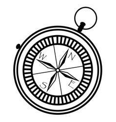 simple nautical compass showing directions vector image