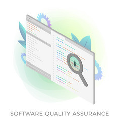 Software quality assurance sqa icon vector