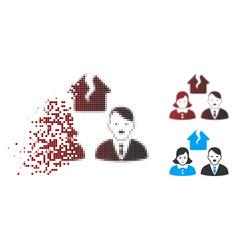 Sparkle pixel halftone hitler divorce people icon vector