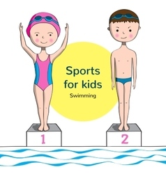 Sports for kids Swimming vector image