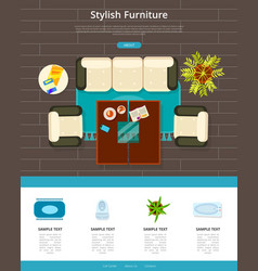stylish furniture web page vector image