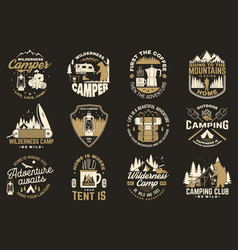 Summer camp concept for shirt or patch vector