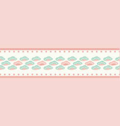 sweet seamless repeat border pastel clouds and vector image