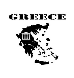 symbol of greece and maps vector image