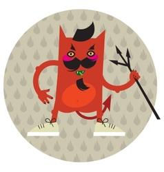 The moustached devil vector