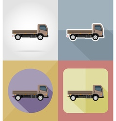 Transport flat icons 16 vector