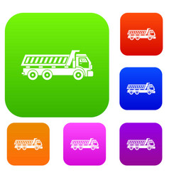 truck set collection vector image