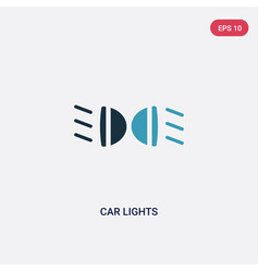 two color car lights icon from transport concept vector image