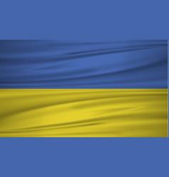 Ukraine flag flag of ukraine blowig in the wind vector