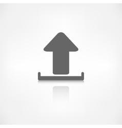 Upload icon send file vector