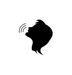 voice command control icon person talking icon vector image