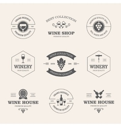 Wine badges and labels vector image