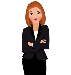 Young businesswoman isolated on white background vector image