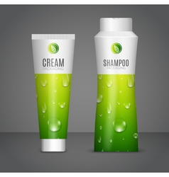Body care cosmetics designs tubes template vector image