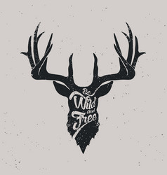 deer be wild and free vector image