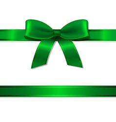 Green Ribbon And Bow vector image vector image