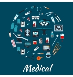 Medical infographic poster background vector image vector image