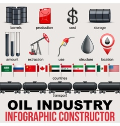Oil Industry Infographic design Elements vector image