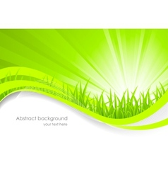 Abstract background with green grass vector image