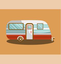 camper trail of camper bus of van vector image vector image
