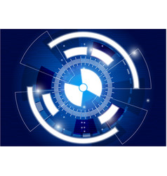 digital business tech circle and future vector image