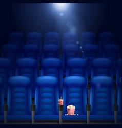 Empty Cinema Hall vector image vector image