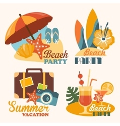 Set Travel and Vacation in vector image