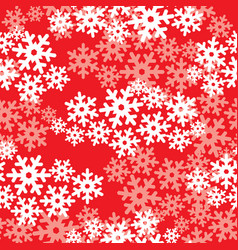 snow seamless pattern christmas winter holiday vector image vector image