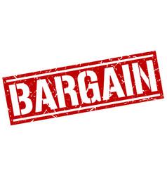 Bargain square grunge stamp vector