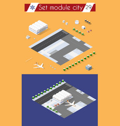 city airport with transport vector image