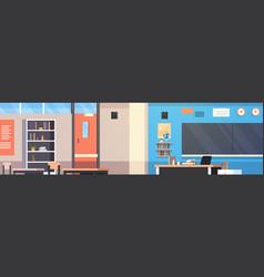 classroom interior empty school class room with vector image
