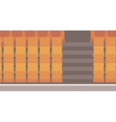 Empty theater seats vector image vector image