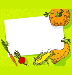 fall season banner autumn frame with crop vector image