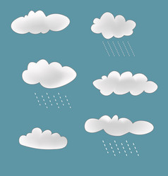 rainy clouds set vector image vector image