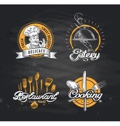 restaurant logo design template cafe or vector image vector image