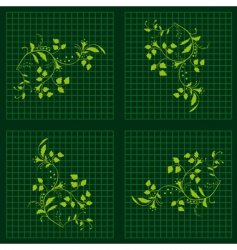 seamless background with green plants vector image vector image
