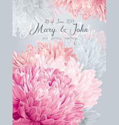 Aster wedding invitation card vector
