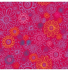 colorful flowers seamless texture vector image
