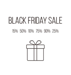 concept of black friday lettering with different vector image vector image