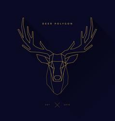 deer frame invert navy vector image vector image