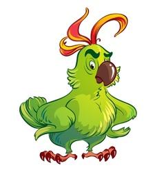 green parrot vector image