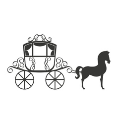 horse equine carriage icon vector image