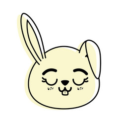 isolated cute rabbit face vector image